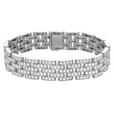 "​18k White Gold & Diamond ""Maillon Panthère"" Bracelet"