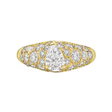 Pear-Shaped Diamond Dome Ring