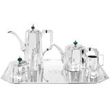 5-Piece Silver Tea & Coffee Service with Tray