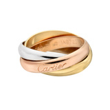 Small 18k Tri-Colored Gold 'Trinity' Ring