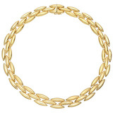 18k Gold 'Torpedo' Link Collar Necklace