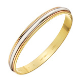 ​18k Tri-Colored Gold Bangle