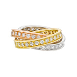 "​18k Tricolored Gold & Diamond ""Trinity"" Ring"