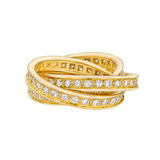 "18k Yellow Gold & Diamond ""Trinity"" Ring"