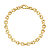 18k Yellow Gold Boston Link Bracelet