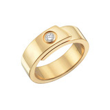18k Gold &amp; Diamond Band Ring