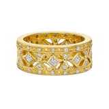 20k Gold & Diamond Openwork Band