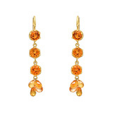 Mandarin Garnet & Orange Sapphire Drop Earrings