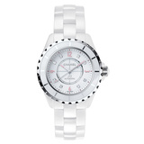 "​​J12 38mm ""Pink Light"" White Ceramic (H4864)"