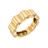 "​18k Yellow Gold ""Profil de Camellia"" Band Ring"