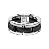 "​18k White Gold & Black Ceramic ""Ultra"" Band Ring"