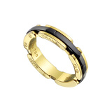 "18k Yellow Gold & Black Ceramic ""Ultra"" Band"