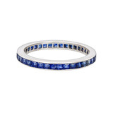 Channel-Set Sapphire Eternity Band