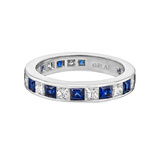 ​Channel-Set Sapphire & Diamond Eternity Band