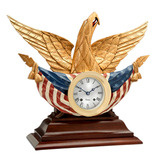 Bellamy American Eagle Bell Clock