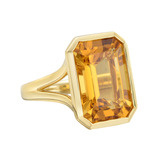 Emerald-Cut Citrine Cocktail Ring