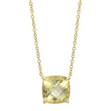 Lemon Citrine Pendant Necklace