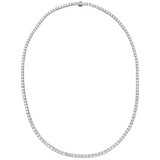 Classic Diamond Line Necklace (~10 ct tw)