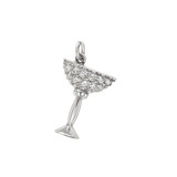 Cocktail Glass Diamond Charm