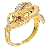 18k Gold & Gemstone Crawfish Cuff