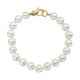 Cultured Pearl Bracelet with 14k Gold Clasp