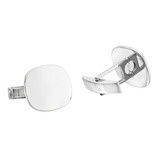 Platinum Cushion-Shaped Cufflinks