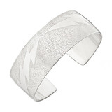 Textured Aluminum Lightning Bolt Cuff