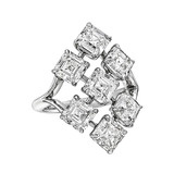 Asscher-Cut Diamond Cocktail Ring (6.49 ct tw)