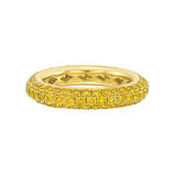 ​Fancy Intense Yellow Diamond 3-Row Band Ring