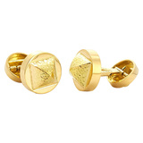 "18k Yellow Gold ""Bastille"" Cufflinks"