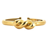 "​Polished 18k Yellow Gold ""Twisted Nail"" Bangle"