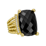 "Black Onyx & Diamond ""Wheaton"" Ring"