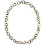 18k Gold & Silver Link Necklace