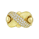 De Vroomen 18k Gold & Diamond 'X' Ring
