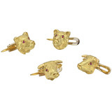 18k Gold Bull & Bear Shirt Studs