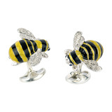 Silver Bumblebee Cufflinks