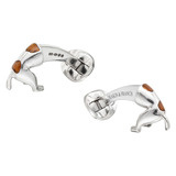 Silver Digging Dog Cufflinks