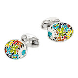 "Silver ""Flower Power"" Cufflinks"
