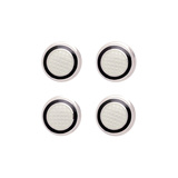 ​Silver Black & White Patterned Enamel Shirt Studs