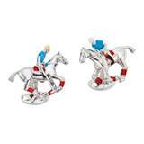 Silver Polo Player Cufflinks