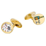 18k Gold &quot;Road to Ruins&quot; Cufflinks