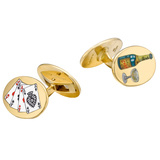 "18k Gold ""Road to Ruins"" Cufflinks"