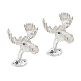 Silver Moose Head Cufflinks