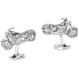 Silver Motorcycle Cufflinks