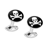 Silver Skull &amp; Crossbones Cufflinks