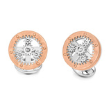 Silver Wheel with Rotating Cogs Cufflinks