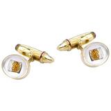 ​18k Gold Whiskey Glass & Cigar Cufflinks