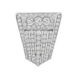 Deco Platinum & Diamond Brooch