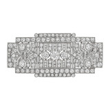 Art Deco Diamond Panel Brooch (~12 ct tw)