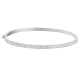 18k White Gold & Diamond Hinged Bangle